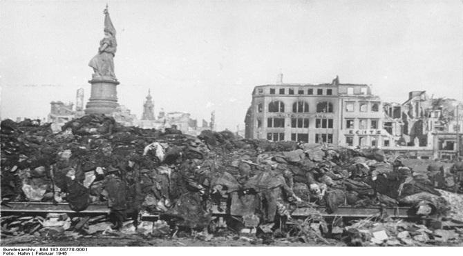 Dresden, Tote nach Bombenangriff