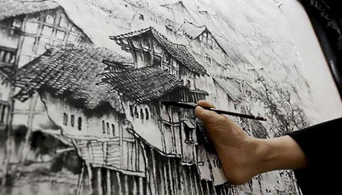 Huang Guofu - Kolsuz ressam