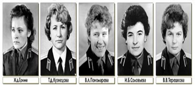 Valentina Tereshkova, Tatiana Kuznetsova, Irina Solovyova, Valentina Ponomareva