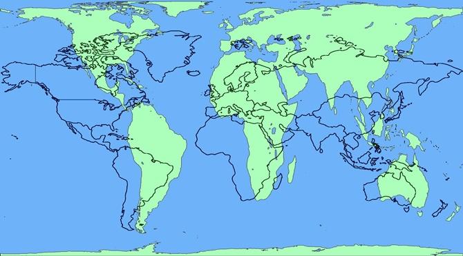 Gerçek dünya haritasını gördünüz mü?