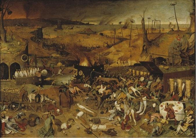 Ölümün Zaferi 1562, Ahşap üzerine yağlıboya, 117 x 162 cm