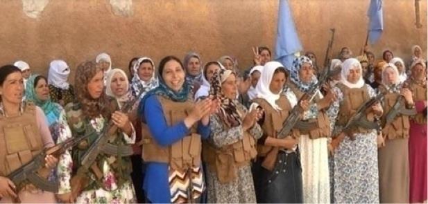 Rojavalı kadın savaşçılar