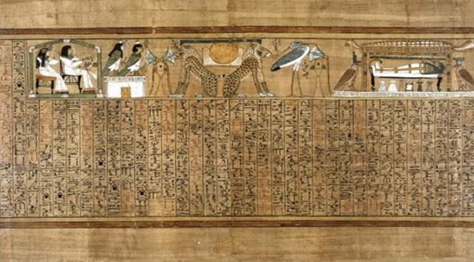 19. Hanedan Dönemi /Ölüler Kitabı sayfası/ Teb-Mısır / M.Ö.1250