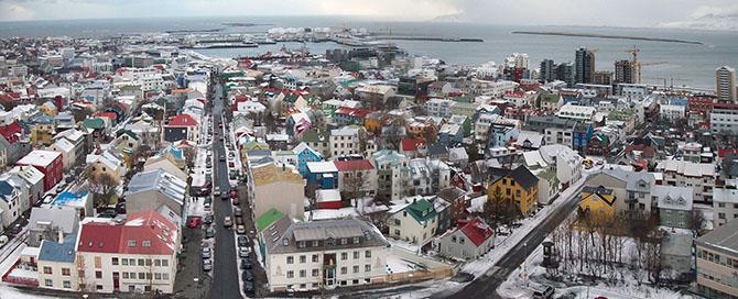 izlanda'nın başkenti Reykjavik