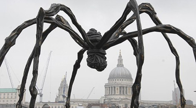 Giant Louise Bourgeois spider at Tate Modern, London, Britain - 03 Oct 2007