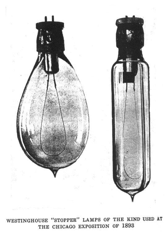 Edison ambargasonu kırmak için, Westinghouse tarafından kısa sürede geliştirilen iki pinli ampuller.