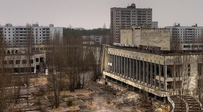 Burası artık ölü olan Pripyat.