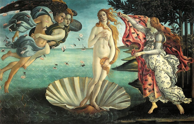 013 Venüs'ün Doğuşu The Birth of Venus - Botticelli
