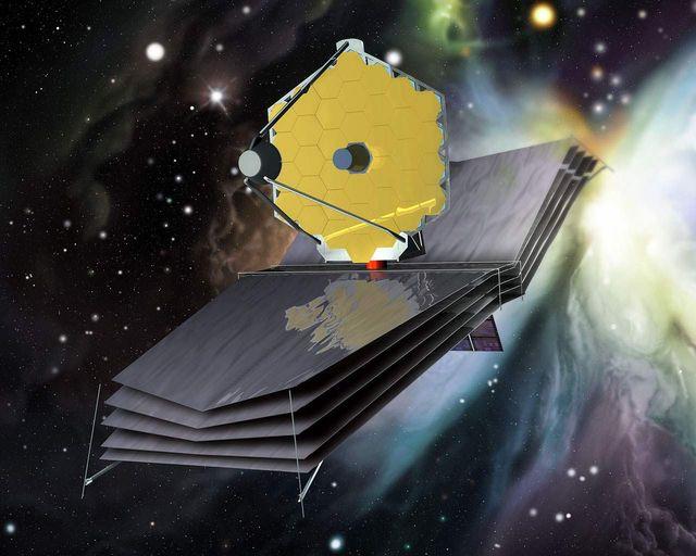 2018 de  fırlatılması beklenen  JWUT, temsili (ESA)