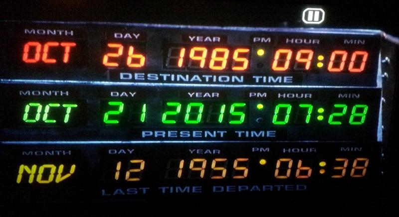 Marty'nin geleceğe döndüğü gün