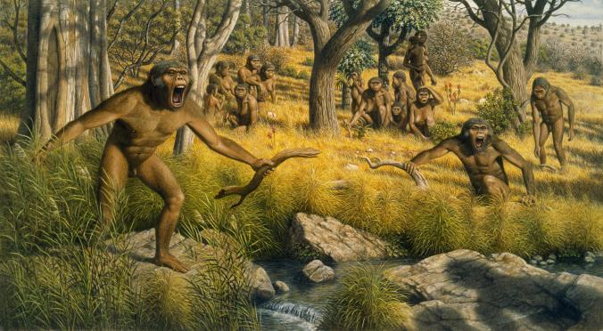 3 milyon yıl kadar önce Afrika iklimi kuraklaşıp ormanlar yerlerini ovalara bırakınca atalarımızın yeni duruma uyum sağlaması gerekti. [Fotoğraf: Mauricio Anton, National Geographic Creative]
