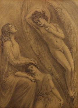 Comforting Angel, c. 1904 Kahlil Gibran Pencil