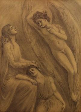 Comforting Angel, c. 1904 Kahlil Gibran Pencil