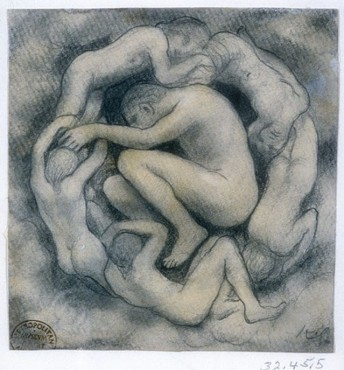 Sketch for Jesus the Son of Man, ca. 1923 Khalil Gibran (Lebanese, 1883–1931) Pencil and watercolor on paper