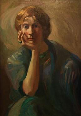 Portrait of Charlotte Teller, c. 1911 Kahlil Gibran Oil on canvas
