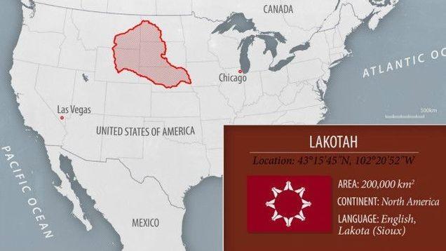 Lakotah Cumhuriyeti ABD'de Kızılderili Sioux halkına ait.