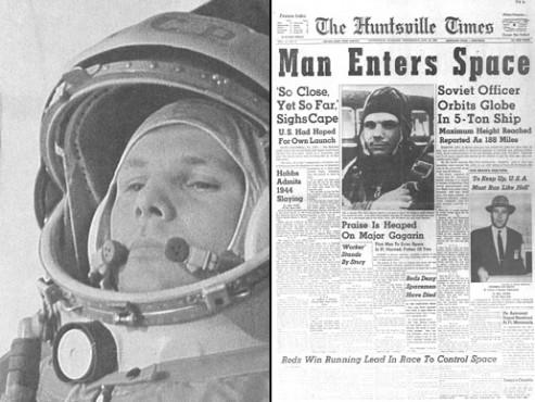 ABD gazetelerinde Yuri Gagarin ve ilk insanlı yörünge uçuşu (Kaynak: NASA)