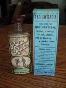 Radyum: romatizma, lumbago, eklem ağrısı, soğuk algınlığına bire bir….