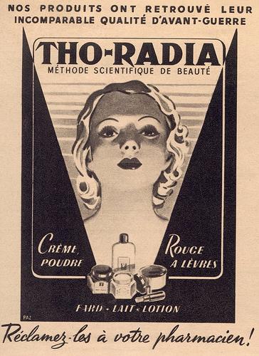 1920'lerden radyum içeren bir güzellik kremi reklamı