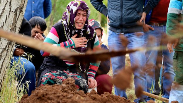 Fotoğraf: Beş yaşındaki Nisa Döne Sezer'in cenaze töreni_Kilis.(Göktay Koraltan) Kaynak: BBC