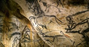 A detail of the full-scale reproduction of frescos found at the cave of Pont-D'Arc also known as the Chauvet cave,  on April 8, 2015 in Vallon Pont D'Arc. The frescos were reproduced by French graphic artist and researcher Gilles Tosello, to replicate the Chauvet Cave which are  located in the Ardeche region of southern France. They are the world's oldest-known cave paintings, with handprints and depictions of horses and other animals dated to around 30,000-32,000 years ago. AFP PHOTO / JEFF PACHOUD  = RESTRICTED TO EDITORIAL USE, MANDATORY MENTION OF THE ARTIST UPON PUBLICATION, TO ILLUSTRATE THE EVENT AS SPECIFIED IN THE CAPTION =        (Photo credit should read JEFF PACHOUD/AFP/Getty Images)