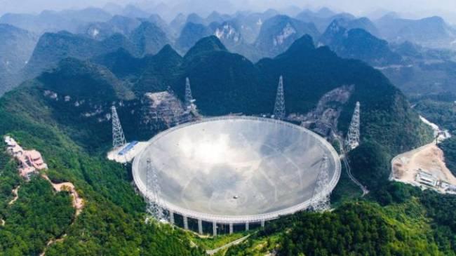 Çin'de yapımı tamamlanan, 30 futbol sahası büyüklüğündeki dünyanın en büyük radyo teleskobu FAST'ta testlere başlandı.